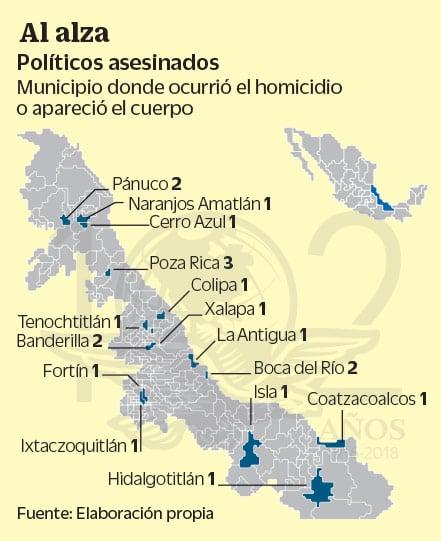 Veracruz mapa de homicidios